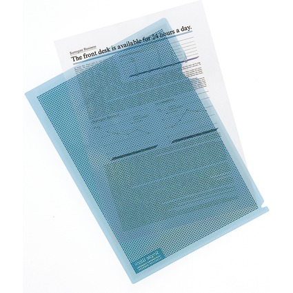 PLUS JAPAN Datenschutz-Sichthülle, DIN A4, farbig sortiert