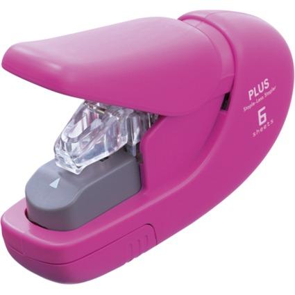 PLUS JAPAN Heftgerät SL-106AB klammerlos, pink