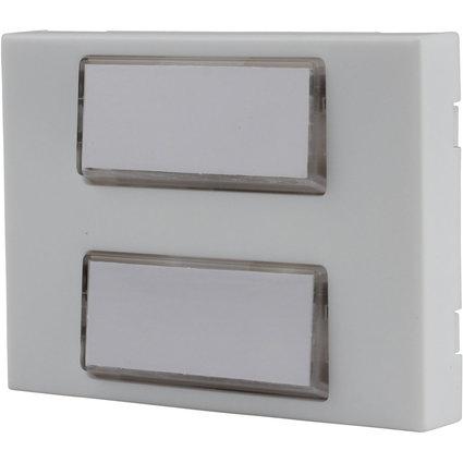 uniTEC Klingeltaster, Kunststoff, 2-fach