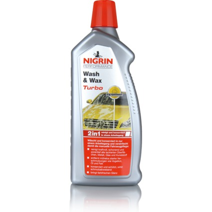 NIGRIN Performance Wash & Wax Turbo Auto-Shampoo, 1 Liter