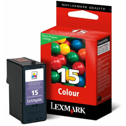 Original Return Tinte Nr.15 für LEXMARK Z2320/X2560, farbig