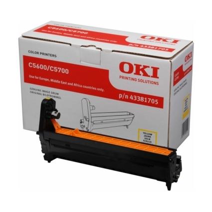Original Trommel für OKI C5600/C5600N/C5700/C5700N, gelb