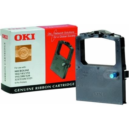 Original Farbband für OKI ML182/ML192/ML193/ML280, schwarz