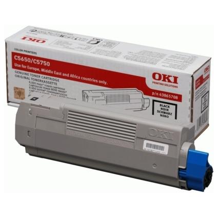 Original Toner für OKI C5650/C5650N/C5750/C5750N, schwarz