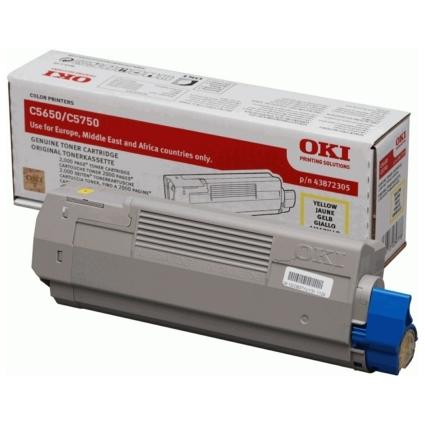 Original Toner für OKI C5650/C5650N/C5750/C5750N, gelb