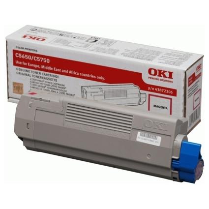 Original Toner für OKI C5650/C5650N/C5750/C5750N, magenta
