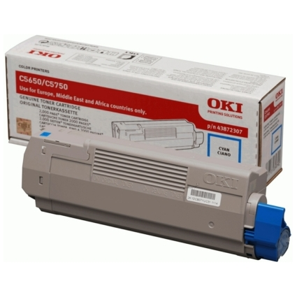 Original Toner für OKI C5650/C5650N/C5750/C5750N, cyan