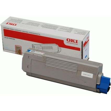 Original Toner für OKI C610/N/DN/DTN, cyan