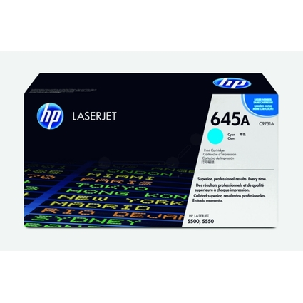 Original Toner für hp Color LaserJet 5500/5500DN, cyan
