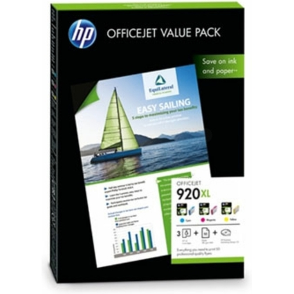 Original Tinte hp 920XL Officejet Value Pack, Tinte + Papier