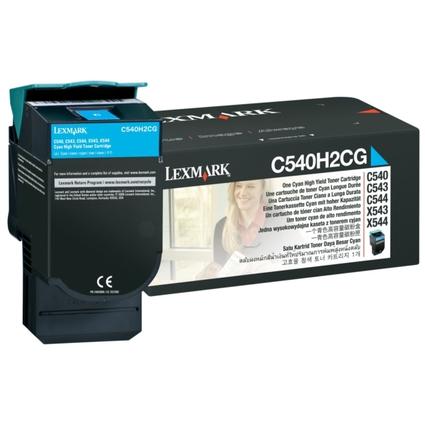 Original Rückgabe-Toner für LEXMARK C540/C543, cyan, HC