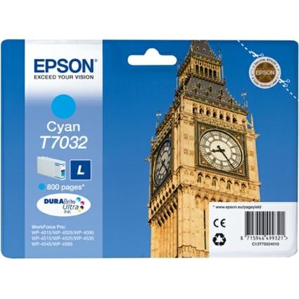 Original Tinte für EPSON WorkForcePro 4000/4500, cyan, L
