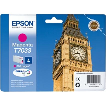 Original Tinte für EPSON WorkForcePro 4000/4500, magenta, L