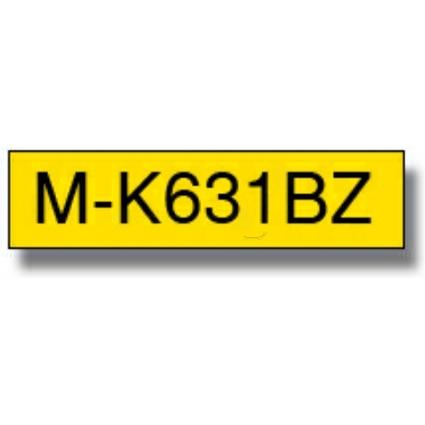 brother M-Tape M-K631 Schriftbandkassette, Bandbreite: 12mm