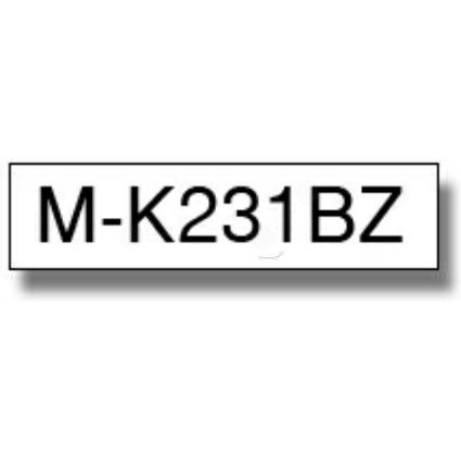brother M-Tape M-K231 Schriftbandkassette, Bandbreite: 12 mm