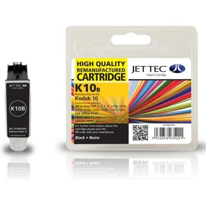 JET TEC wiederbefüllte Tinte K10B ersetzt Kodak Nr. 10 Black