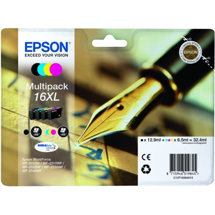 Original Tinte für EPSON WorkForce 2010/2510, Multipack XL