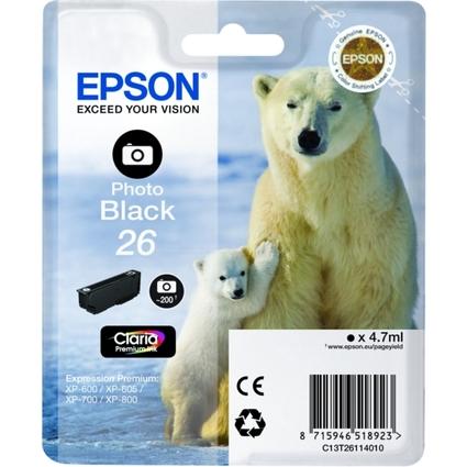 Original Tinte für EPSON Expression XP-600, foto schwarz