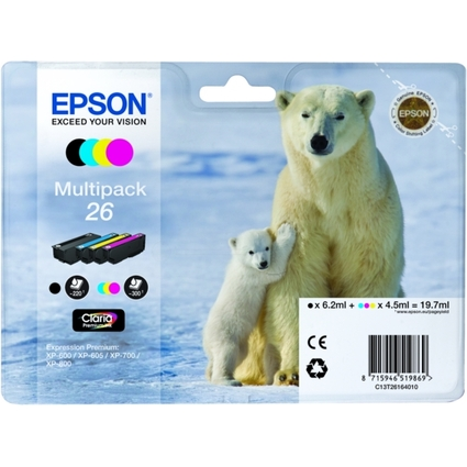 Original Tinte für EPSON Expression XP-600, Multipack