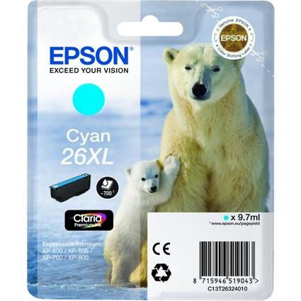 Original Tinte für EPSON Expression XP-600, cyan XL