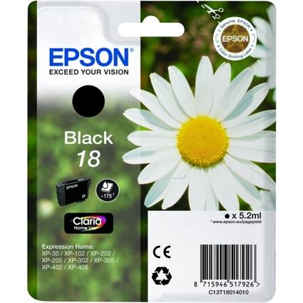 Original Tinte T1801 für EPSON Expression Home XP, schwarz