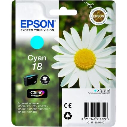 Original Tinte T1802 für EPSON Expression Home XP, cyan
