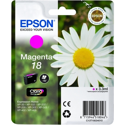 Original Tinte T1803 für EPSON Expression Home XP, magenta