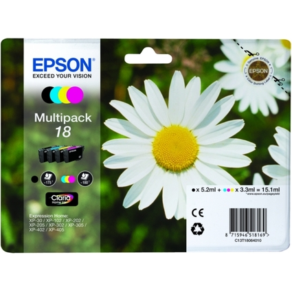 Original Multipack für EPSON Expression Home XP-102/202/205