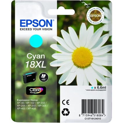 Original Tinte für EPSON Expression XP-30/XP102, cyan, XL