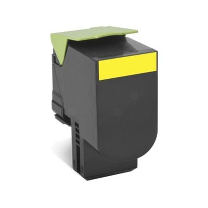 Original Rückgabe-Toner für LEXMARK CX410, gelb, HC
