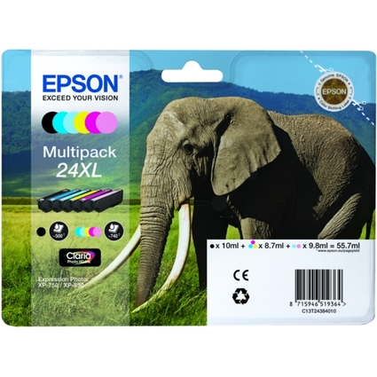 Original Tinte für EPSON Expression XP-750, Multipack XL