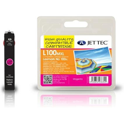 JET TEC wiederbefüllte Tinte L100XLM ersetzt LEXMARK 100XL/