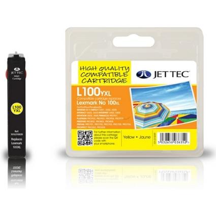 JET TEC wiederbefüllte Tinte L100YXL ersetzt LEXMARK 100 XL/