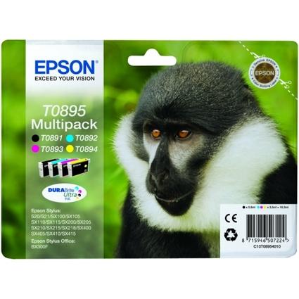 Original Tinte T0895 für EPSON Stylus SX200, Multipack