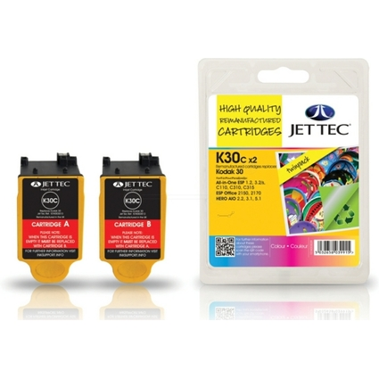JET TEC wiederbefüllte Tinte K30C ersetzt Kodak 30, farbig
