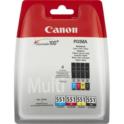 Original Tinte für Canon Pixma, CLI-551 Multipack