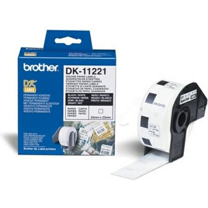 brother DK-11221 Quadratische Etiketten, 23 x 23 mm, weiß