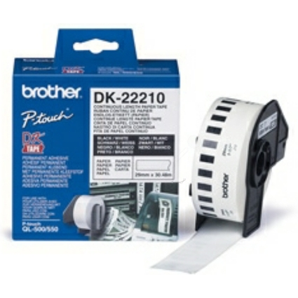 brother DK-22210 Endlos-Etiketten Papier, 29 mm x 30,48 m
