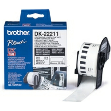 brother DK-22211 Endlos-Etiketten Film, 29 mm x 15,24 m
