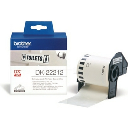 brother DK-22212 Endlos-Etiketten Film, 62 mm x 15,24 m