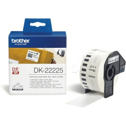 brother DK-22225 Endlos-Etiketten Papier, 38 mm x 30,48 m