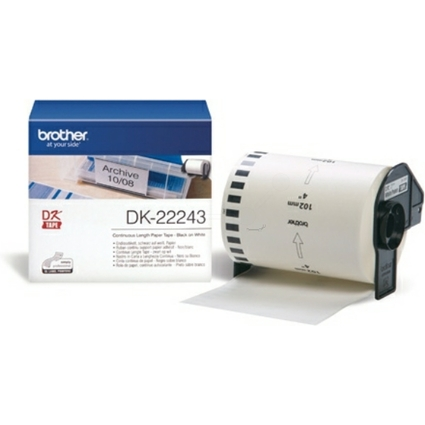 brother DK-22243 Endlos-Etiketten Papier, 102 mm x 30,48 m