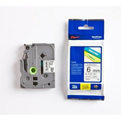 brother TZe-Tape TZe-211 Schriftbandkassette,Bandbreite 6 mm