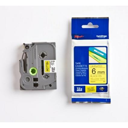 brother TZe-Tape TZe-611 Schriftbandkassette, Bandbreite:6mm