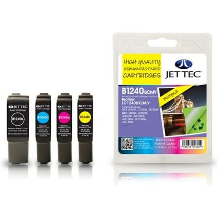 JET TEC wiederbefüllte Tinte B1240/B/CM/Y ersetzt brother