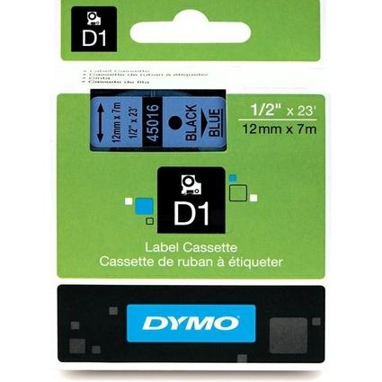 DYMO D1 Schriftbandkassette schwarz/blau, 12 mm x 7 m