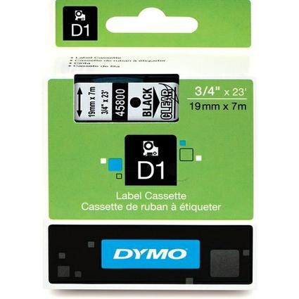 DYMO D1 Schriftbandkassette schwarz auf transparent 19mm/7m