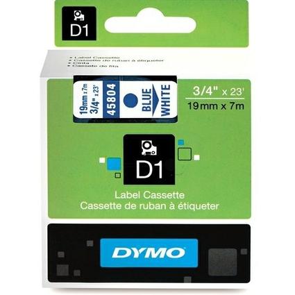 DYMO D1 Schriftbandkassette blau/weiß, 19 mm x 7 m