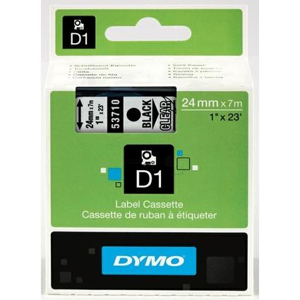 DYMO D1 Schriftbandkassette schwarz auf transparent 24mm/7m
