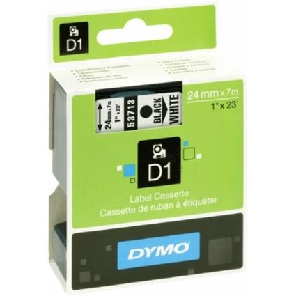 DYMO D1 Schriftbandkassette schwarz/weiß, 24 mm x 7 m
